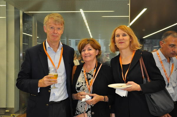 ICIS Fellows Dr Liliane Ollivier and Prof Harriet Thoeny, with St John Brown, CEO of Nuada Medical Group