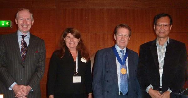 Gold Medallist 2011 - Dr. Michael King with (left to right) Dr. Conor Collins, Dr. Liliane Olliver, Professor Vincent Chong.