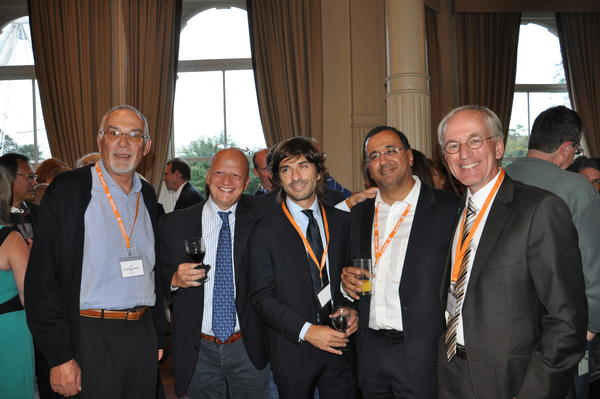 ICIS Fellows from L-R Prof. Massimo Bellomi, Dr. Giovanni Morana, Dr. Guiseppe Petralia, Prof. Anwar Padhani, Prof Jelle Barentsz.