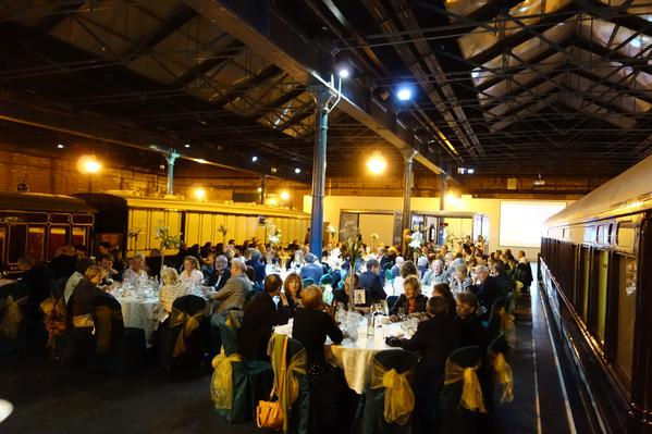 Platform dinner at the National Railway Museum.
