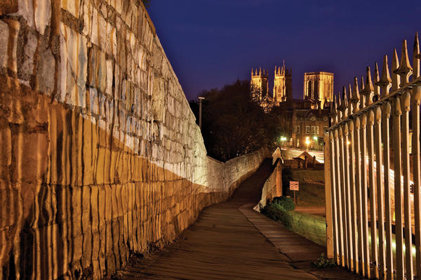 York at night.